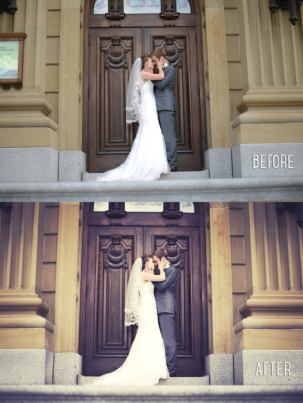 Wedding Photography | Edited photos before and after