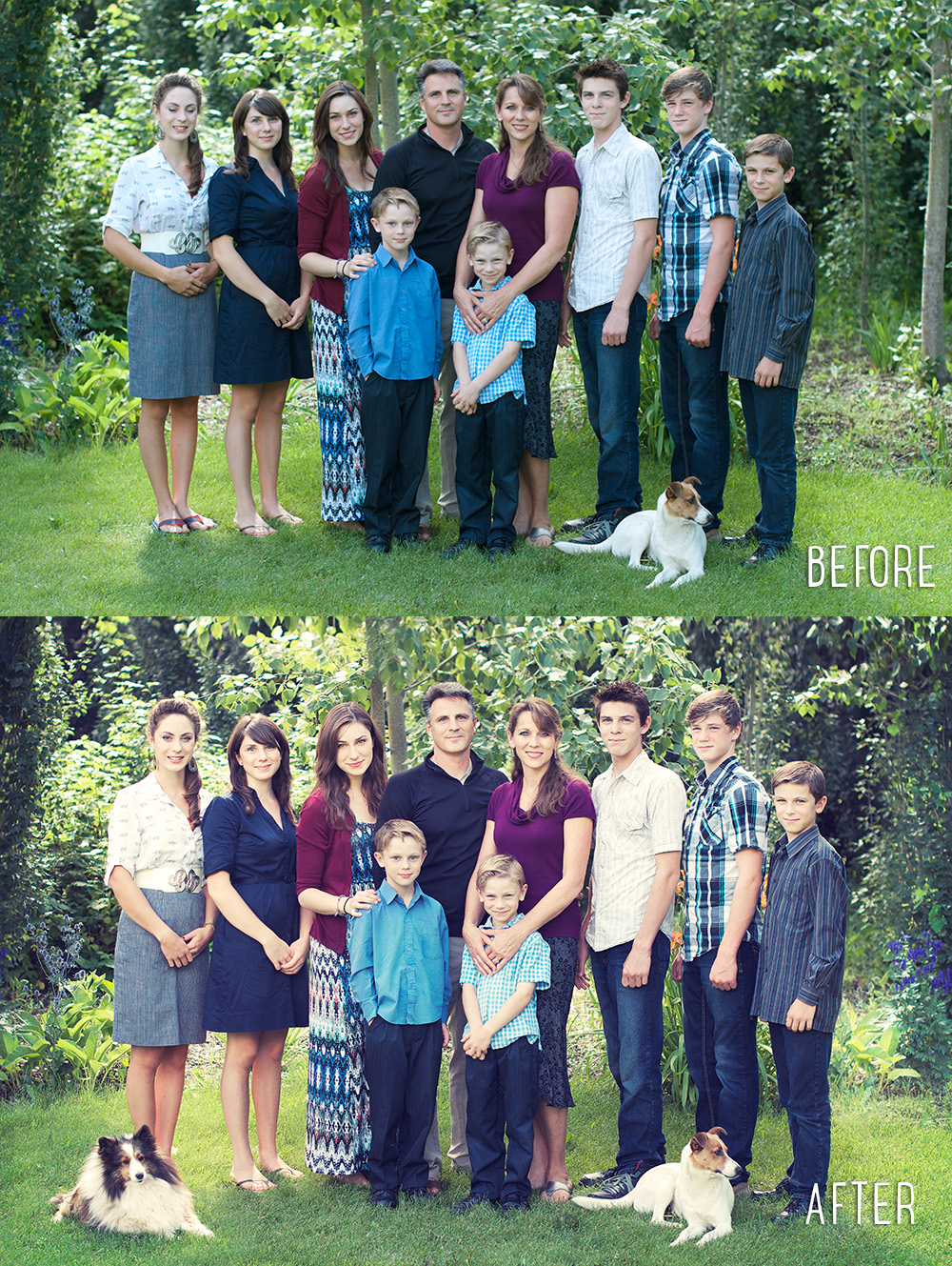 Family Photography | Edited photos before and after