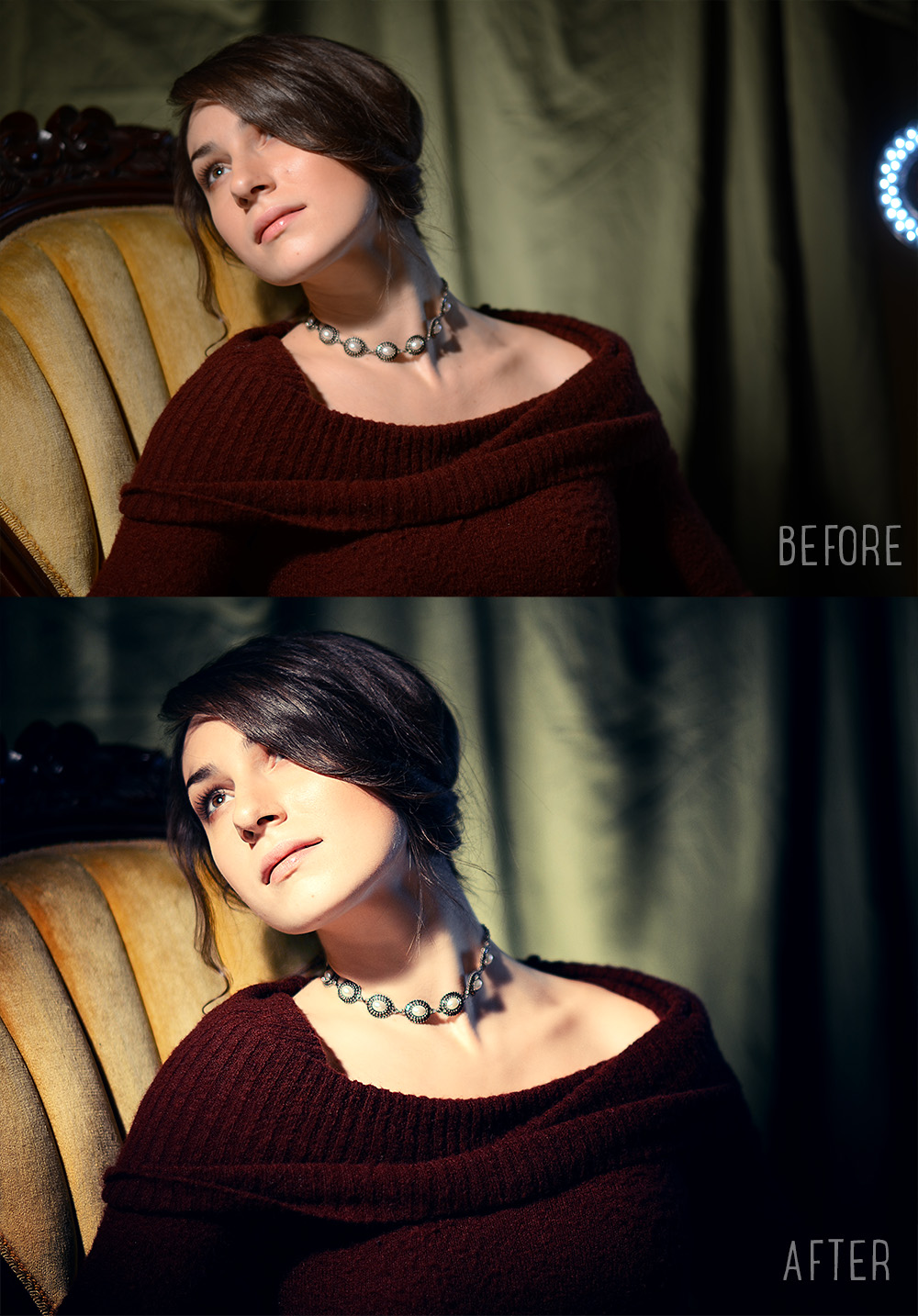 Portrait Photography | Edited photos before and after